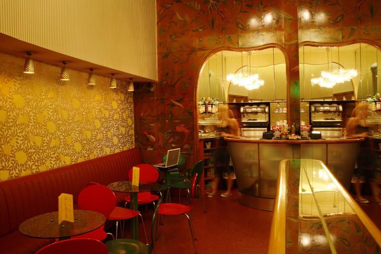 The bar inside Film Casino