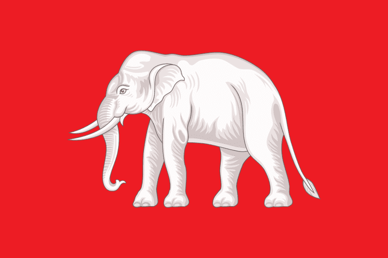 """The White Elephant Flag"" Thai national flag, 1855-1916 