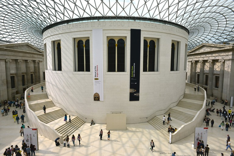 The British Museum's famous grand court