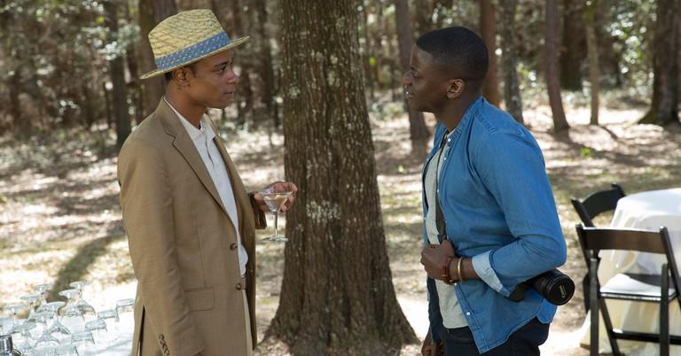 Lakeith Stanfield as Andrew Logan King and Daniel Kaluuya as Chris Washington © Universal