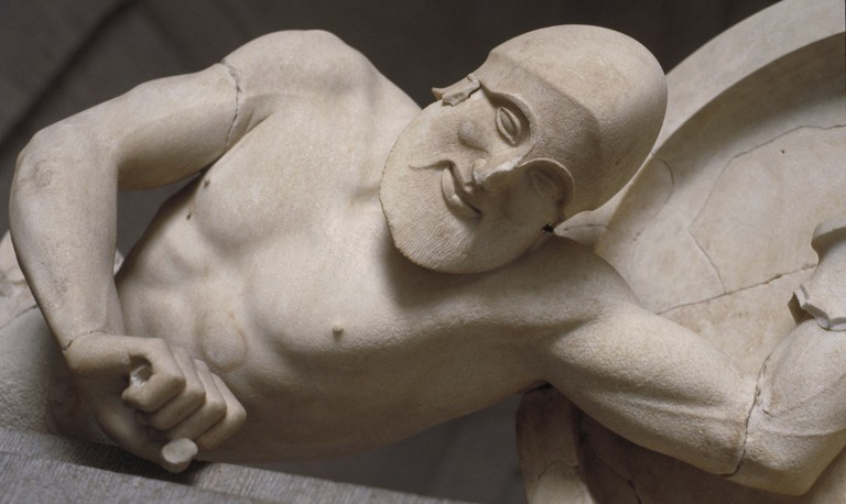 Dying warrior, from the Temple of Aphaia, Aegina