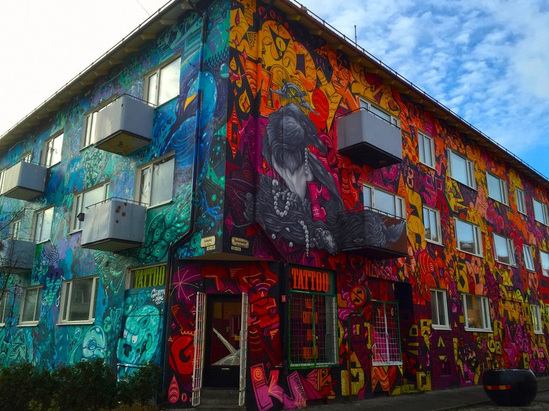 Graffitihus in Malmö