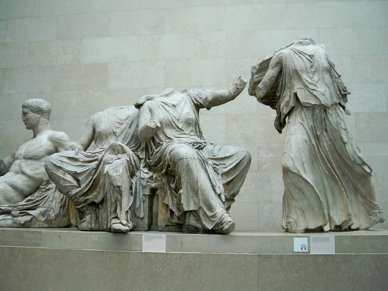 Grecian statues at the British Museum