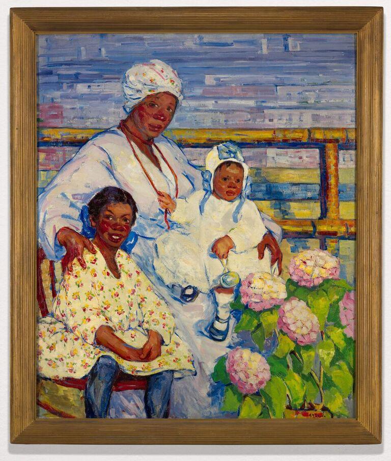 Henrietta Shore, Negro Woman and Two Children (c. 1916)