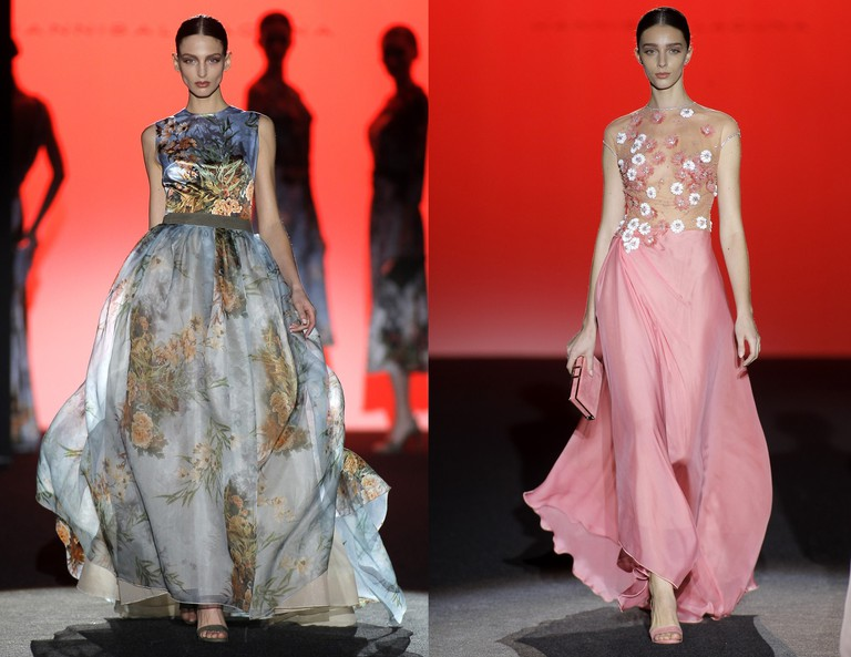 Spring evening gowns by Hannibal Laguna