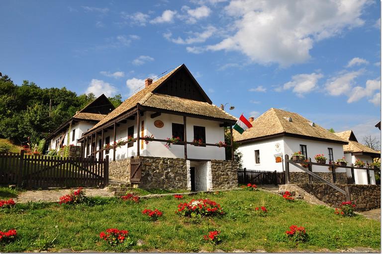 Hollókő village in Hungary