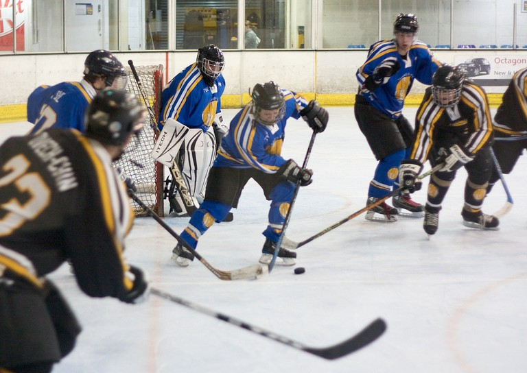 Ice hockey in action