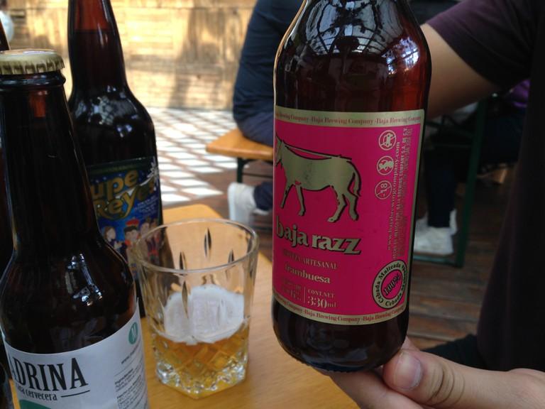 Baja Razz, raspberry beer
