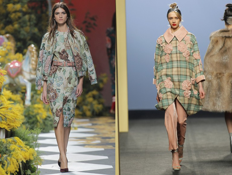 Some floral looks by Madrid designers Jorge Vazquez and Miguel Marinero