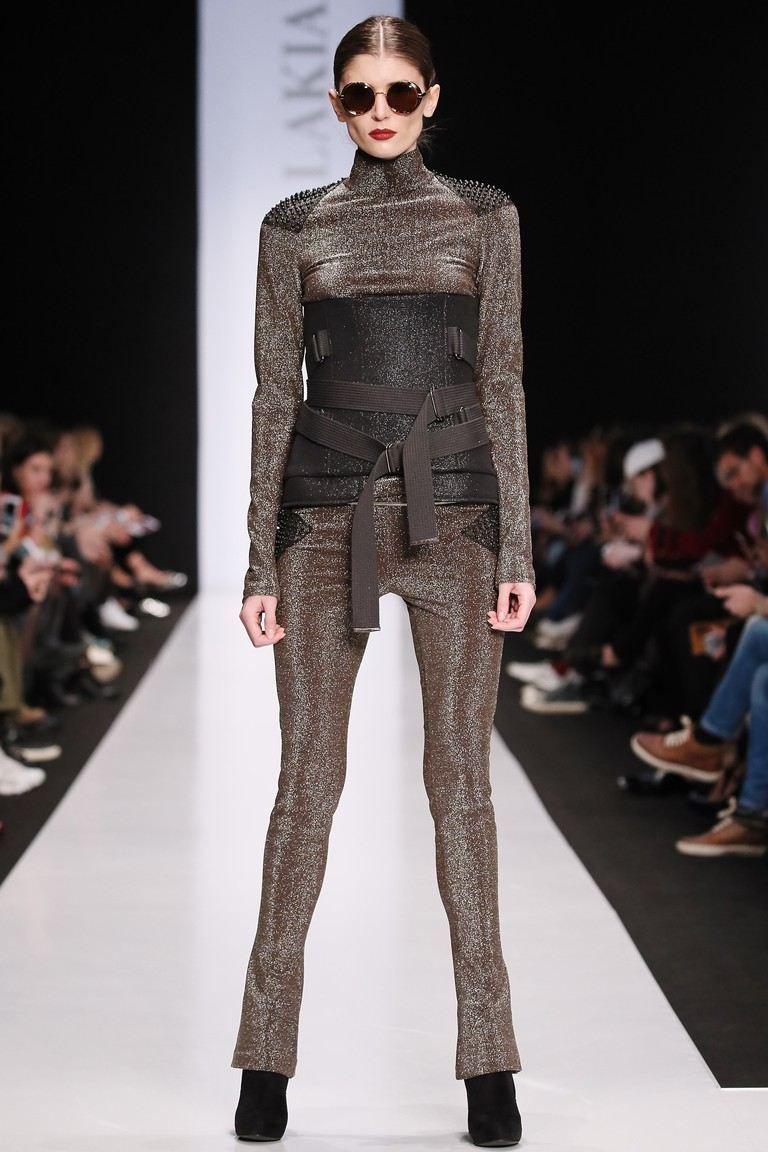 A model wears Julia Dalakian