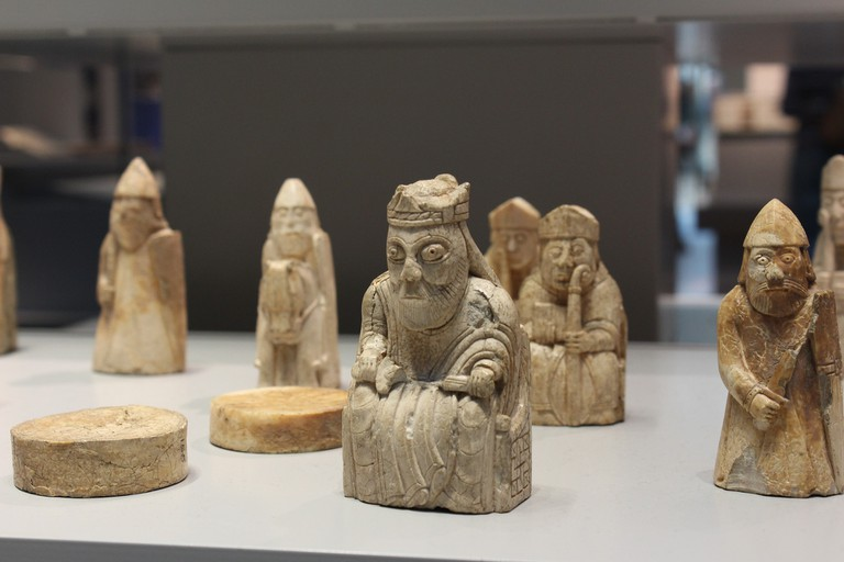 The Lewis Chessmen, 12th Century chess pieces carved from walrus tusks and one of the treasures on the hunt