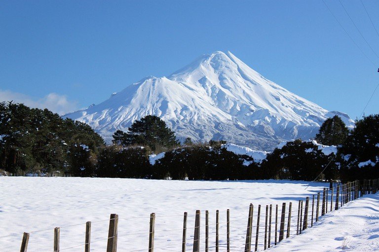 Mount Taranaki in Winter