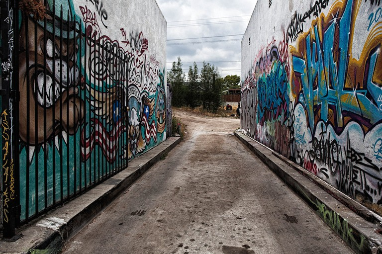 An alley in Highland Park