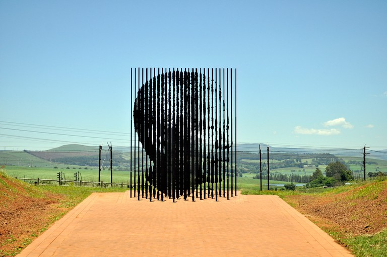 The sculpture was unveiled 48 years after Mandela's arrest