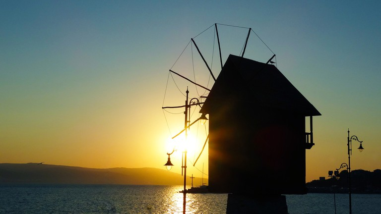 The famous windmill in Nessebar