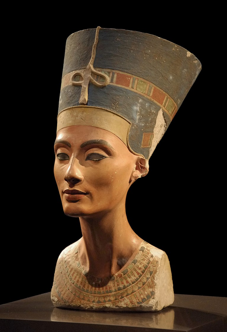 A bust of Nefertiti