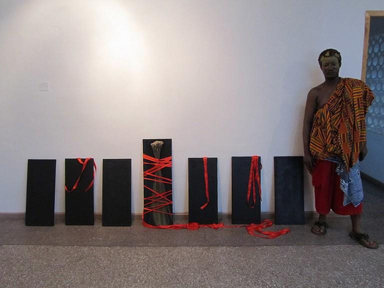 Artist Bernard Akoi at Nubuke Foundation, (c) Daniel Kerkhoff / Flickr