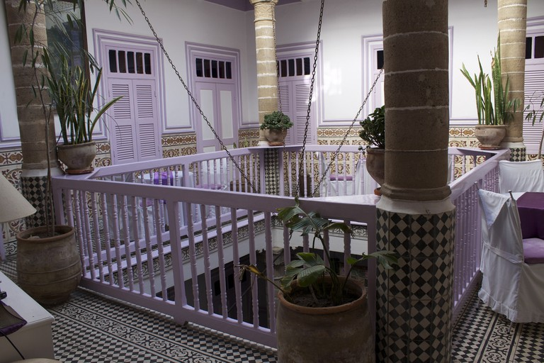 Upper level of a Moroccan home