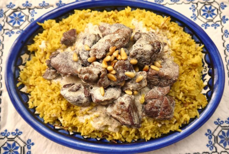 Mansaf, the national dish of Jordan.