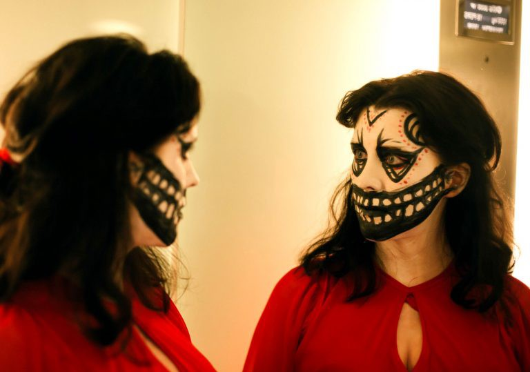 Alice Lowe made-up to kill