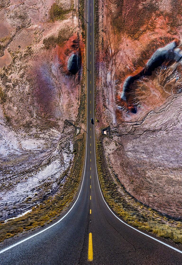 Flatland II: Red Hills on the Road
