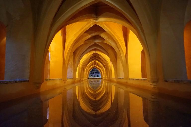 Beautiful interiors in Seville´s Moorish Alcazar; Encarni Novillo