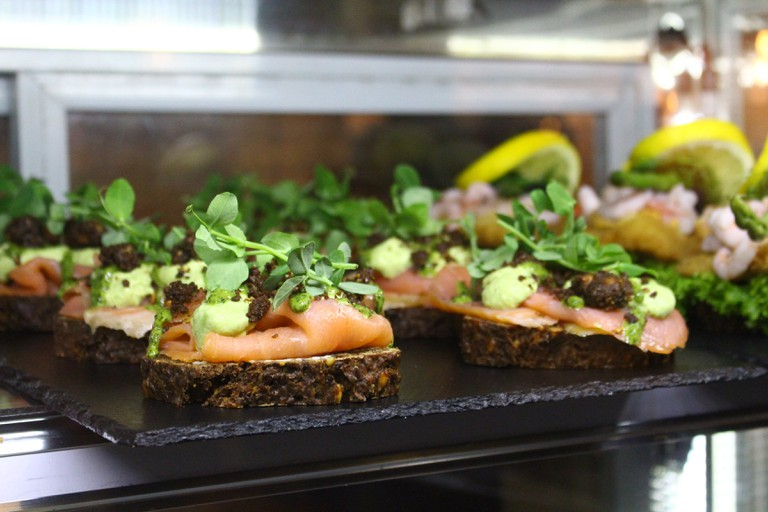Salmon on smørrebrød