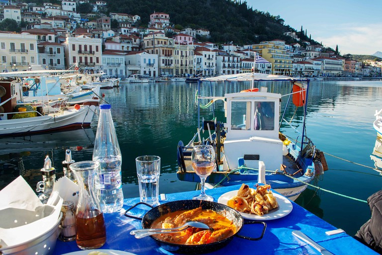 Lunch stop in Gythio, Mani, Peloponnese