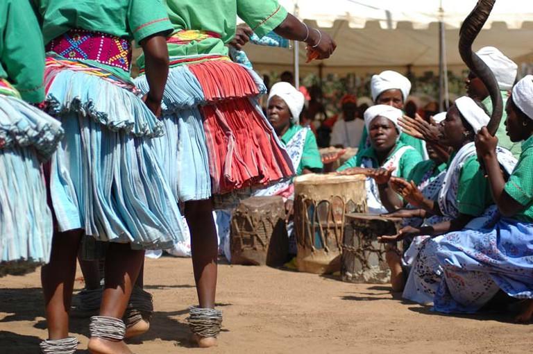 Tsonga (Shangaan) women performing a traditional dance