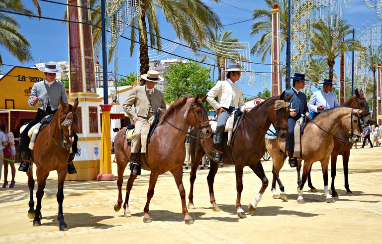 Andalusia's beautiful horses are also on display during Jerez's annual Horse Fair