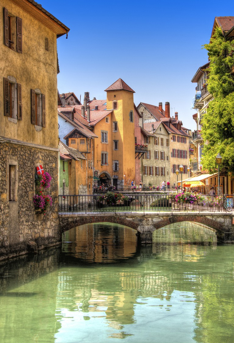 The colourful homes of Annecy, France