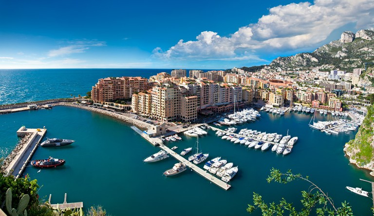 View of Monte Carlo harbour