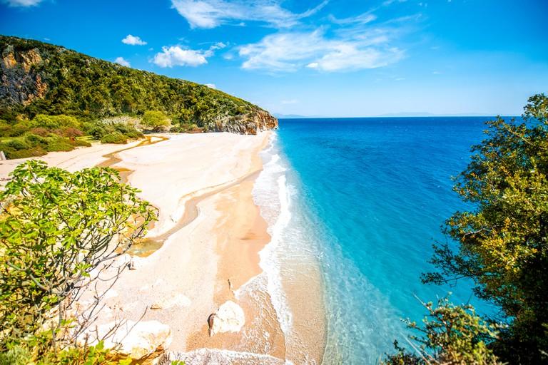 The Albanian coast