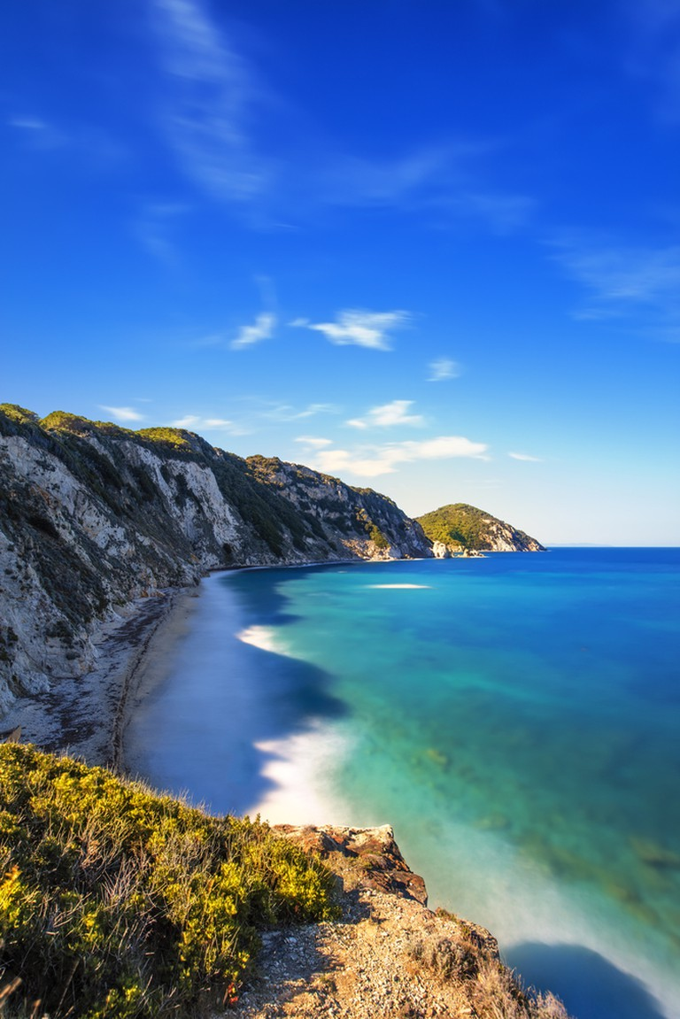Elba is situated off the Tuscan coast
