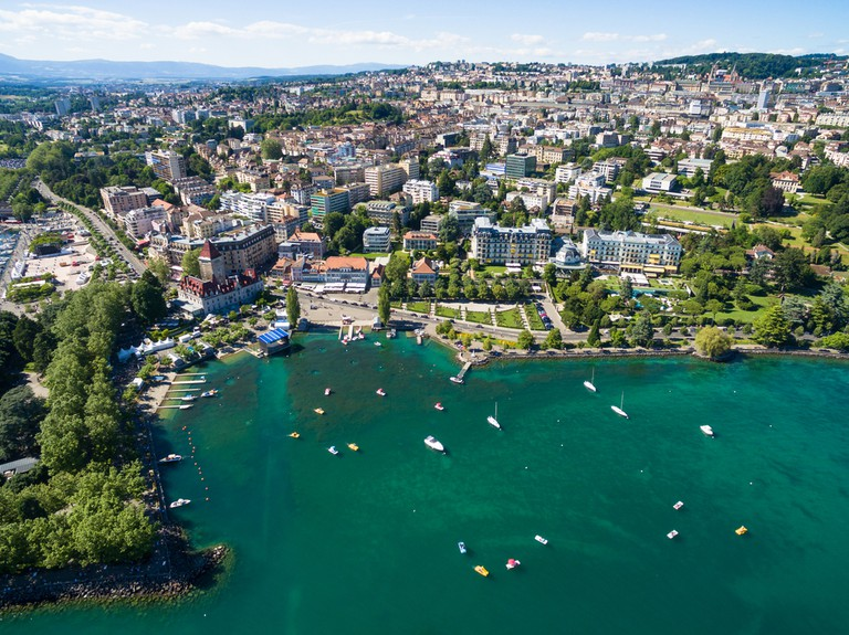 The lakeside city of Lausanne, Switzerland, is a little slice of paradise