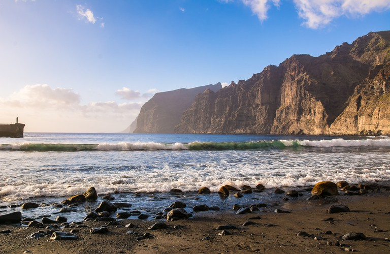 The Gigantes cliffs in Tenerife, Spain