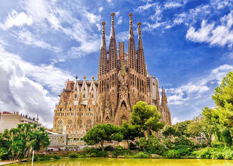 The Sagrada Familia in Barcelona, Spain