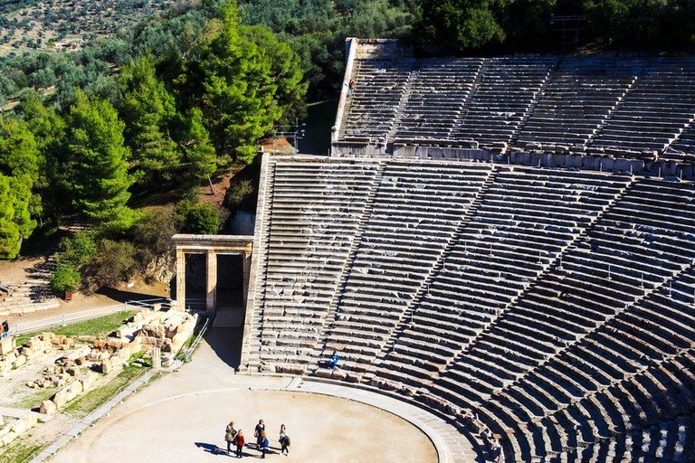 Ancient theatre in Epidaurus, Greece