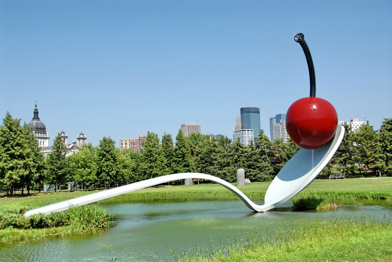 Spoon and Cherry by Coosje van Bruggen and Claes Oldenburg