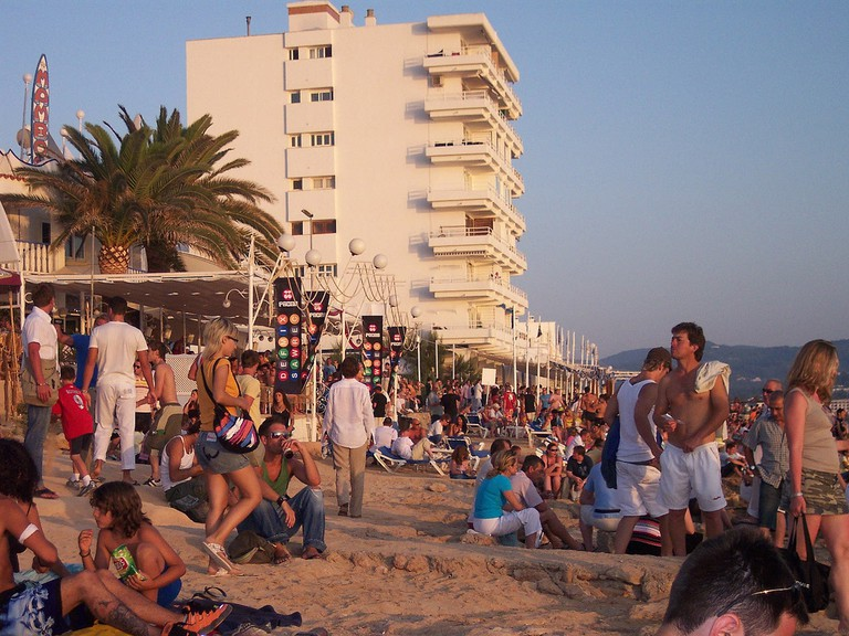 Cafe Mambo at sunset, Ibiza