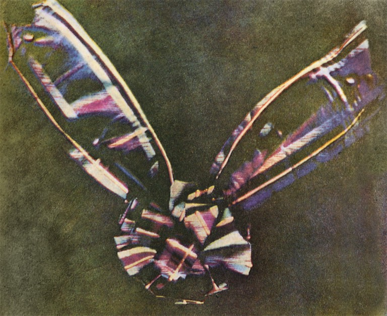 First Color Photograph Ever Taken in 1861. Subject Is a Tartan Ribbon | © WikiCommons