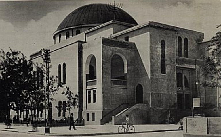 The Great Synagogue in Tel Aviv in the 1930's