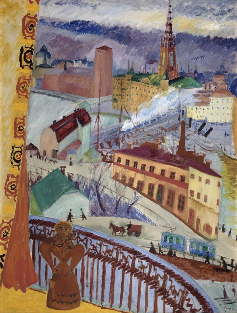 Utsikt över Slussen / Photo courtesy of Moderna Museet