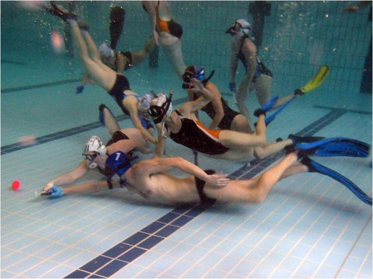 Underwater hockey match