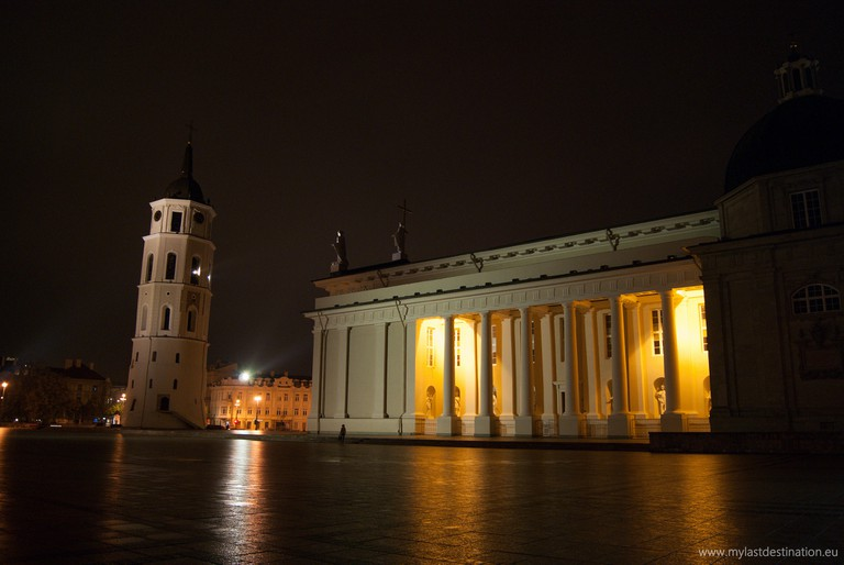 Vilnius Cathedral by night