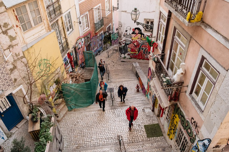 WATSON - LISBON - PORTUGAL- ESCADINHAS DE SÃO CRISTOVÃO - FADO INSPIRED STREET ART