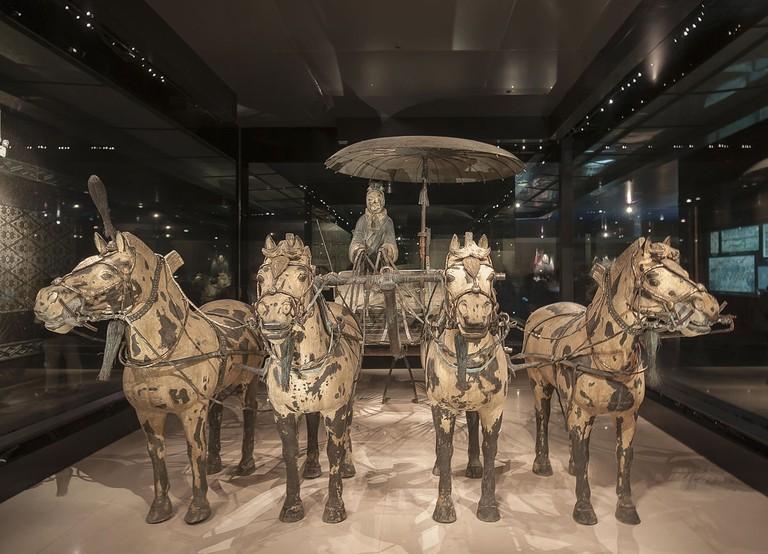 Terracotta horse and coach