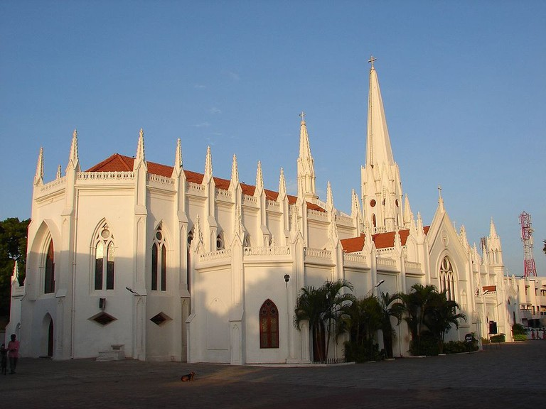 The famous Santhome Basilica in Mylapore, Chennai