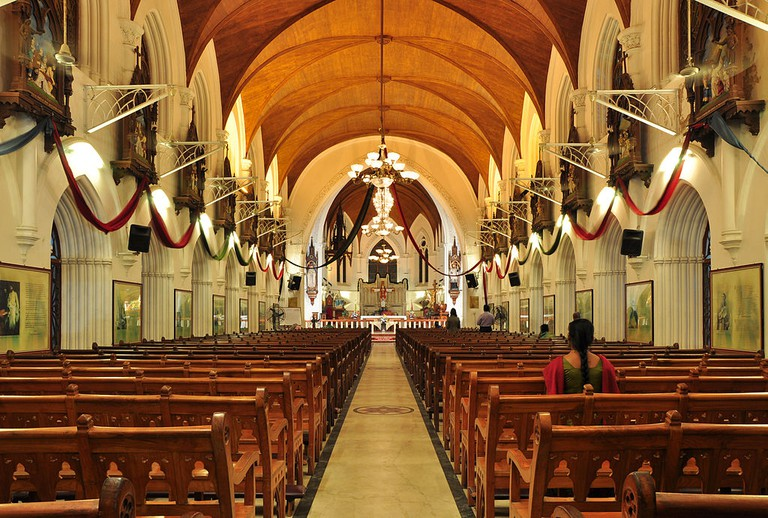Interior of San Thome Basilica in Chennai