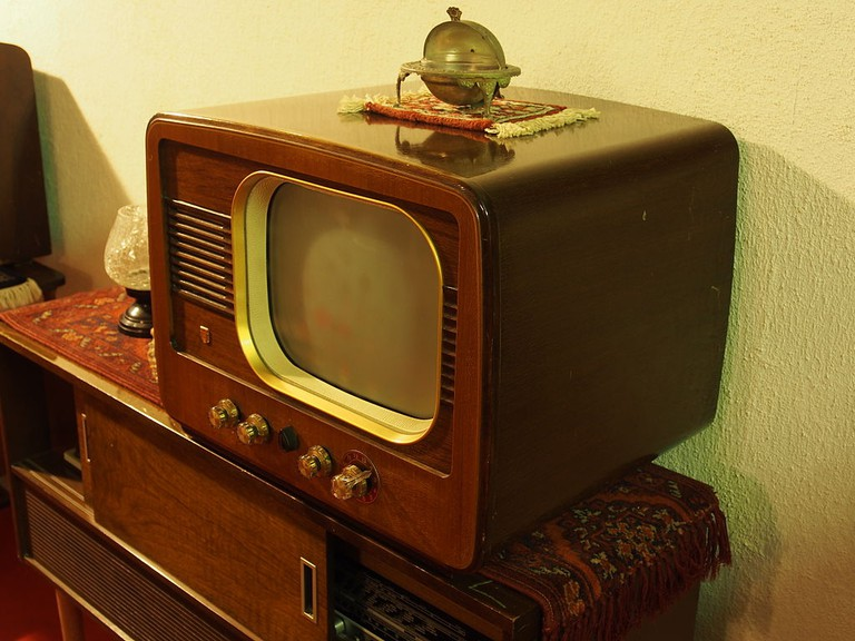 An old Philips TV set
